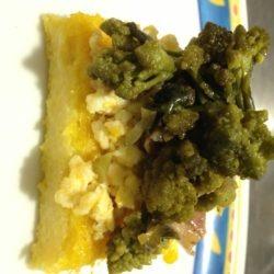 polenta incoronata con cavolo broccolo pancetta e pecorino!