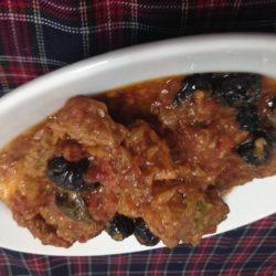 coniglio olive nere e basilico